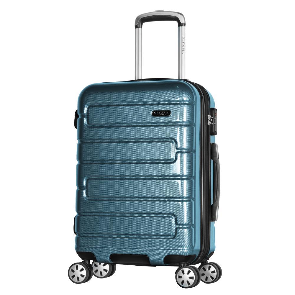 Nema 2-Piece Teal PC Exp. Carry-On Hardcase Spinner Set with TSA Lock