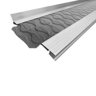 3 ft. L x 5 in. W No Drilling Snap & Lock Aluminum Gutter Guard with Stainless Steel Micro Mesh (25-Piece Equals 75 ft.)