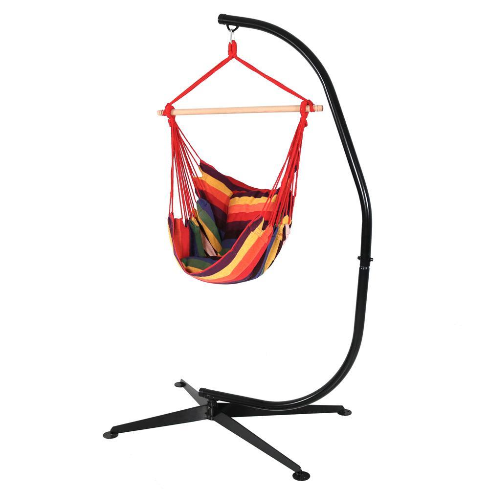 Sunnydaze Decor 3.25 ft. Fabric Hanging Hammock Swing and...