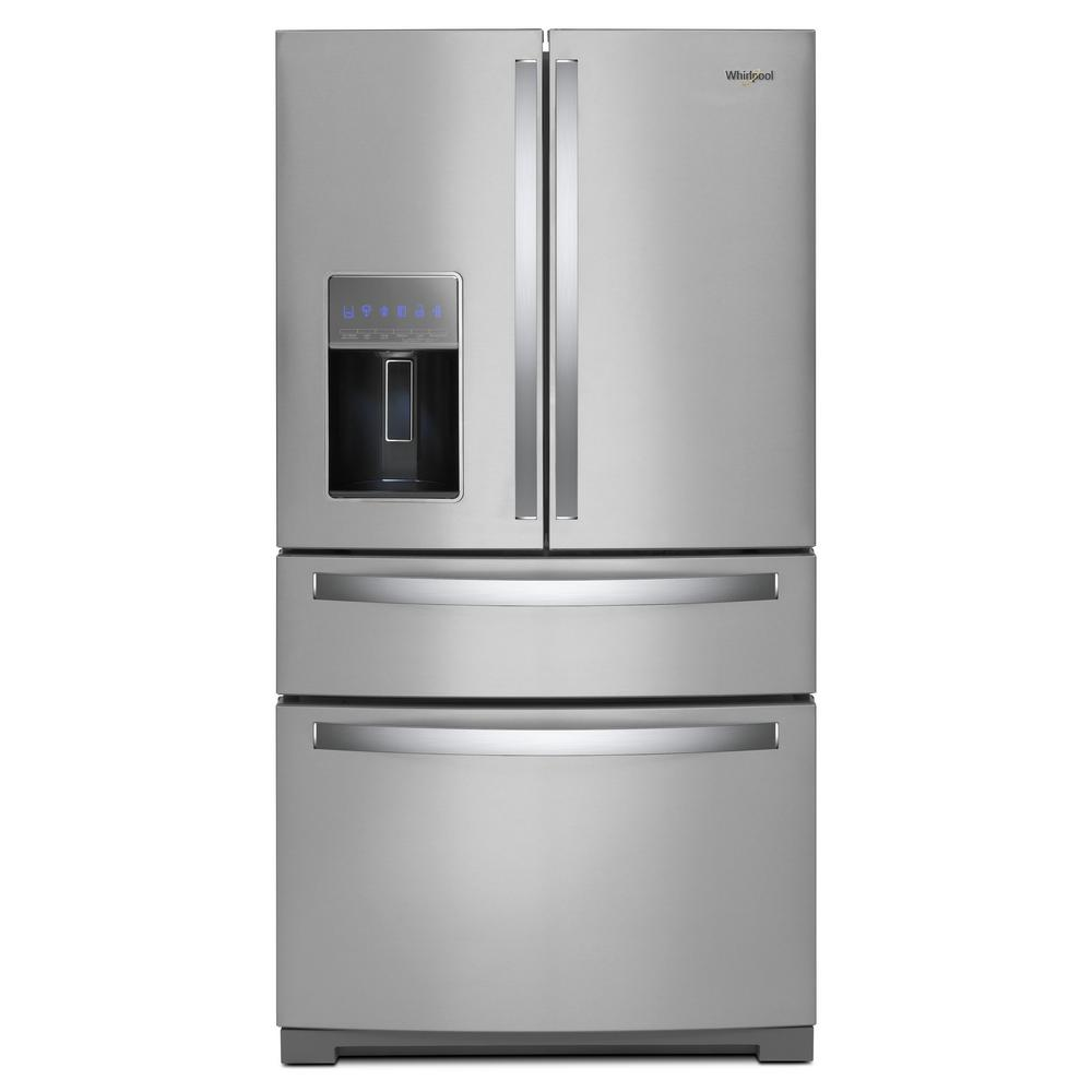 Whirlpool 36 In 26 Cu Ft French Door Refrigerator In Fingerprint