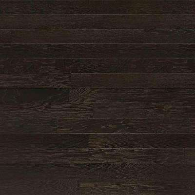 Take Home Sample - Brushed Hickory Ebony Engineered Click Hardwood Flooring - 5 in. x 7 in.