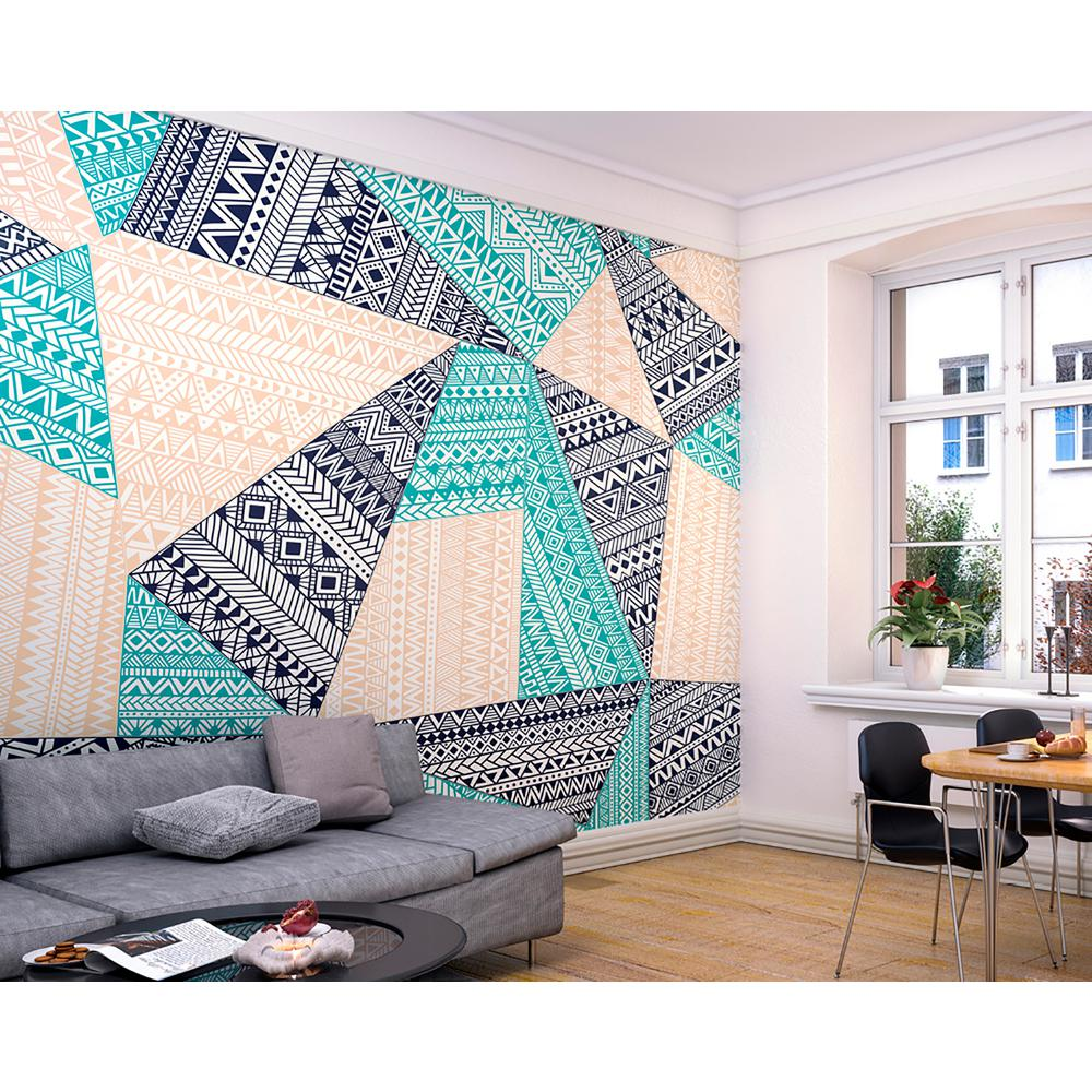 Ohpopsi layered geometric wall mural