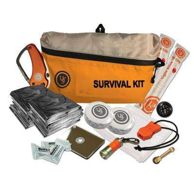 FeatherLite Survival Kit, Orange (16-Piece)
