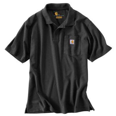 Men's Regular Small Black Cotton/Polyester Short-Sleeve T-Shirt