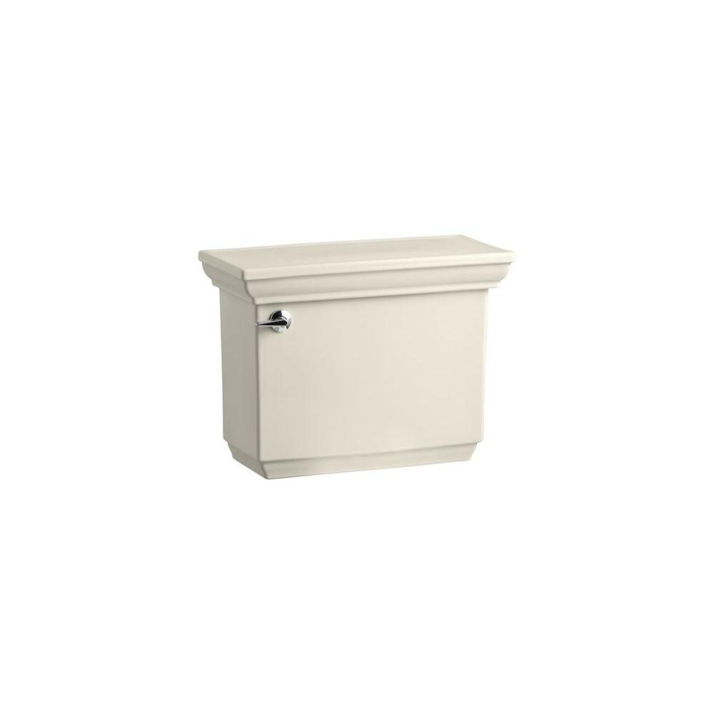 KOHLER Memoirs 1.6 GPF Toilet Tank Only with Insuliner and Stately Design in Almond-DISCONTINUED