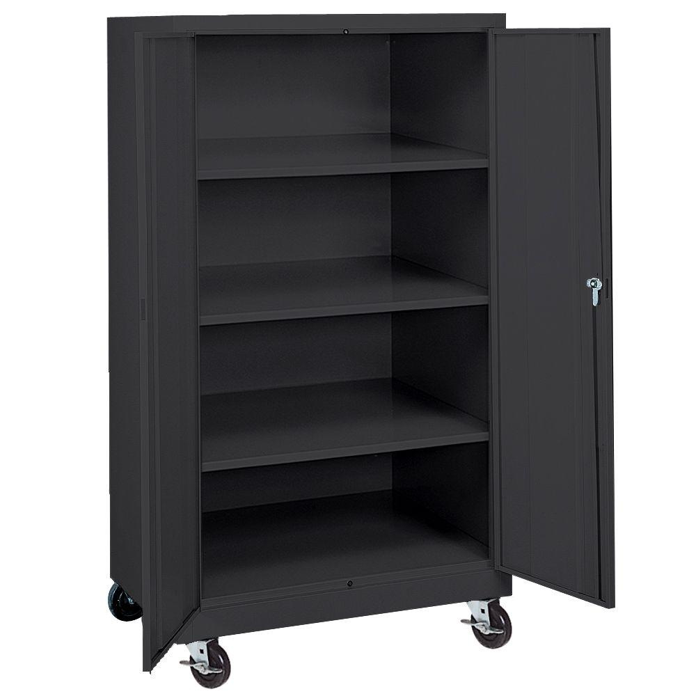 Sandusky 66 in. H x 36 in. W x 24 in. D 4  sc 1 st  The Home Depot & Sandusky 66 in. H x 36 in. W x 24 in. D 4-Shelf Steel Freestanding ...
