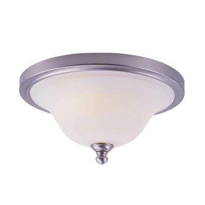 Stewart 2-Light Brushed Nickel Incandescent Ceiling Flushmount