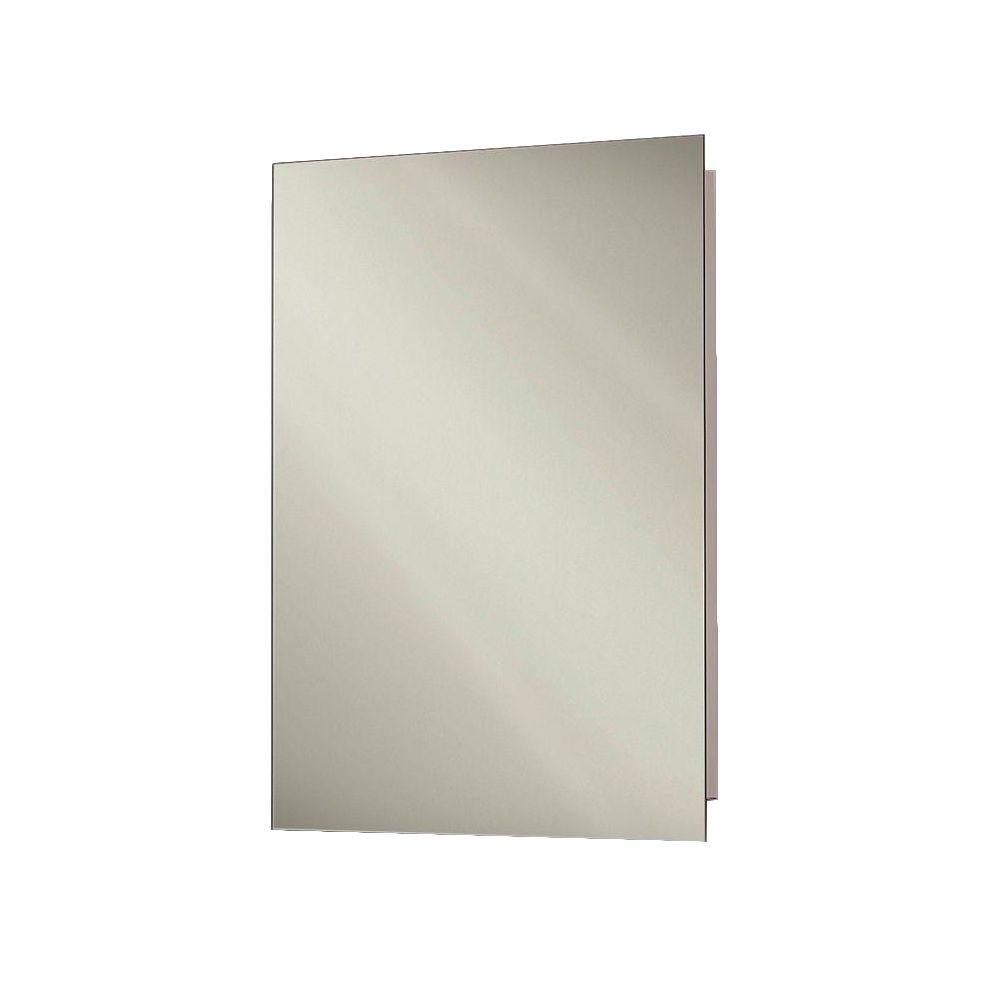Focus 16 in. x 22 in. x 4-3/4 in. Frameless Recessed Bathroom Medicine Cabinet with Polished Edge Mirror