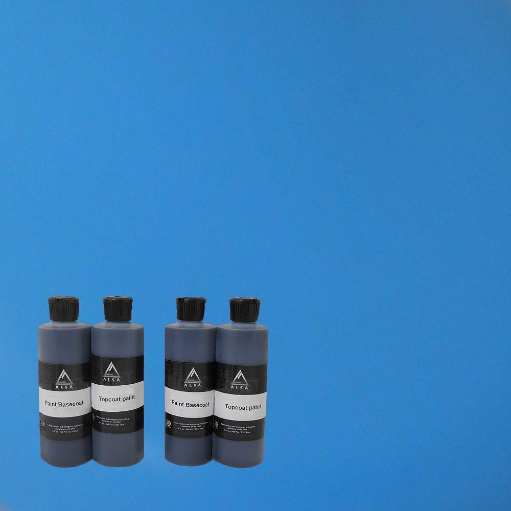 Car Spray Kit Matte: Alsa Refinish 1-qt. Sky Blue Paint Wrap Kit Removable
