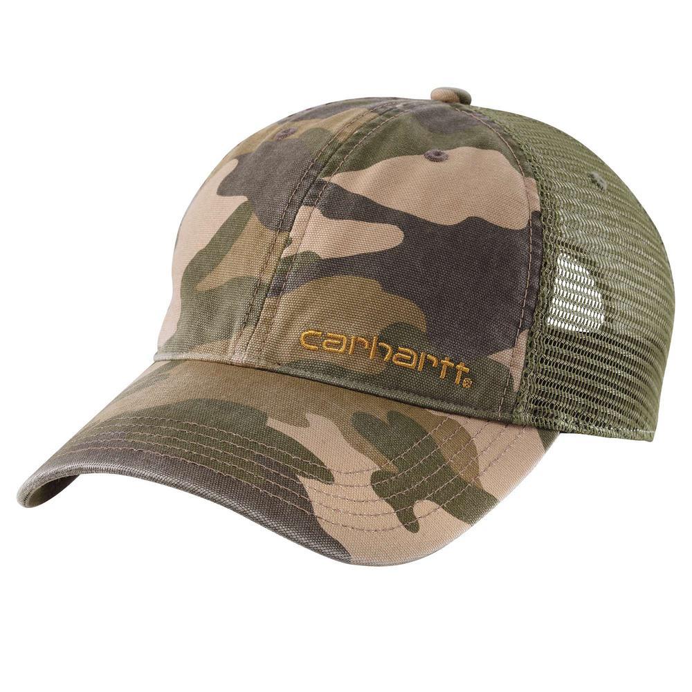84995852f7f7b Carhartt Men s OFA Rugged Khaki Camo Cotton Brandt Cap-101194-294 ...