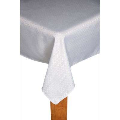 Chelton 60 in. x 84 in. Silver 100% Polyester Tablecloth