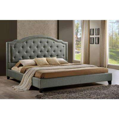 Brentwood Gray King Upholstered Bed