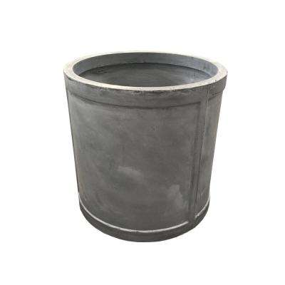 17.7 in. x 17.7 in. x 17.7 in. Light Grey Lightweight Concrete Cylinder Large Planter