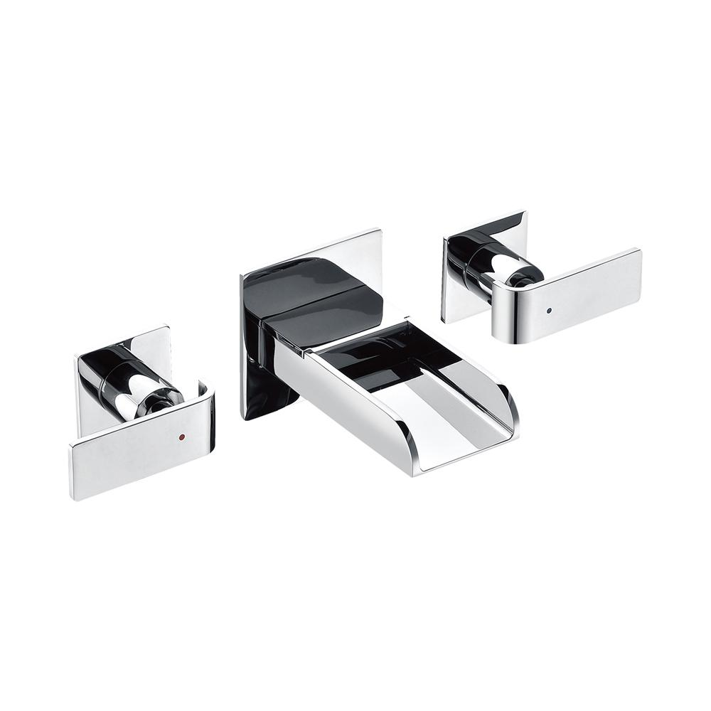 8 in. Widespread 2-Handle Luxury Wall Mount Bathroom Faucet in Polished