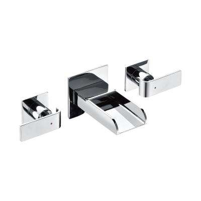 8 in. Widespread 2-Handle Luxury Wall Mount Bathroom Faucet in Polished Chrome
