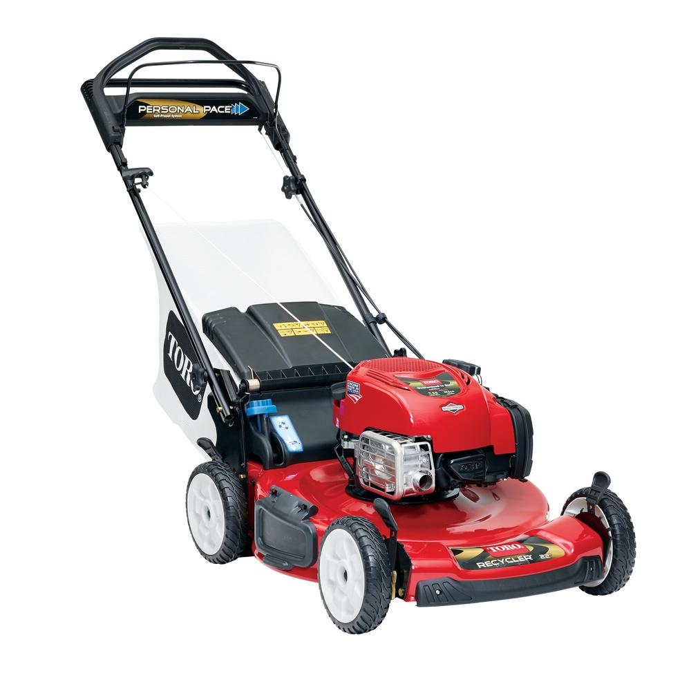 Toro 22 In Personal Pace Recycler Variable Sd Gas Walk Behind Self Propelled Lawn Mower