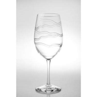 Good Vibrations 18 oz. Clear All Purpose Wine (Set of 4)