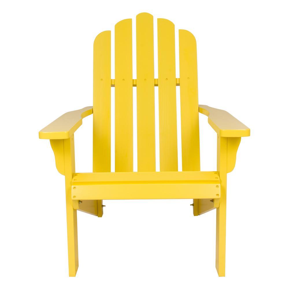 Marina Cedar Wood Adirondack Chair - Lemon Yellow