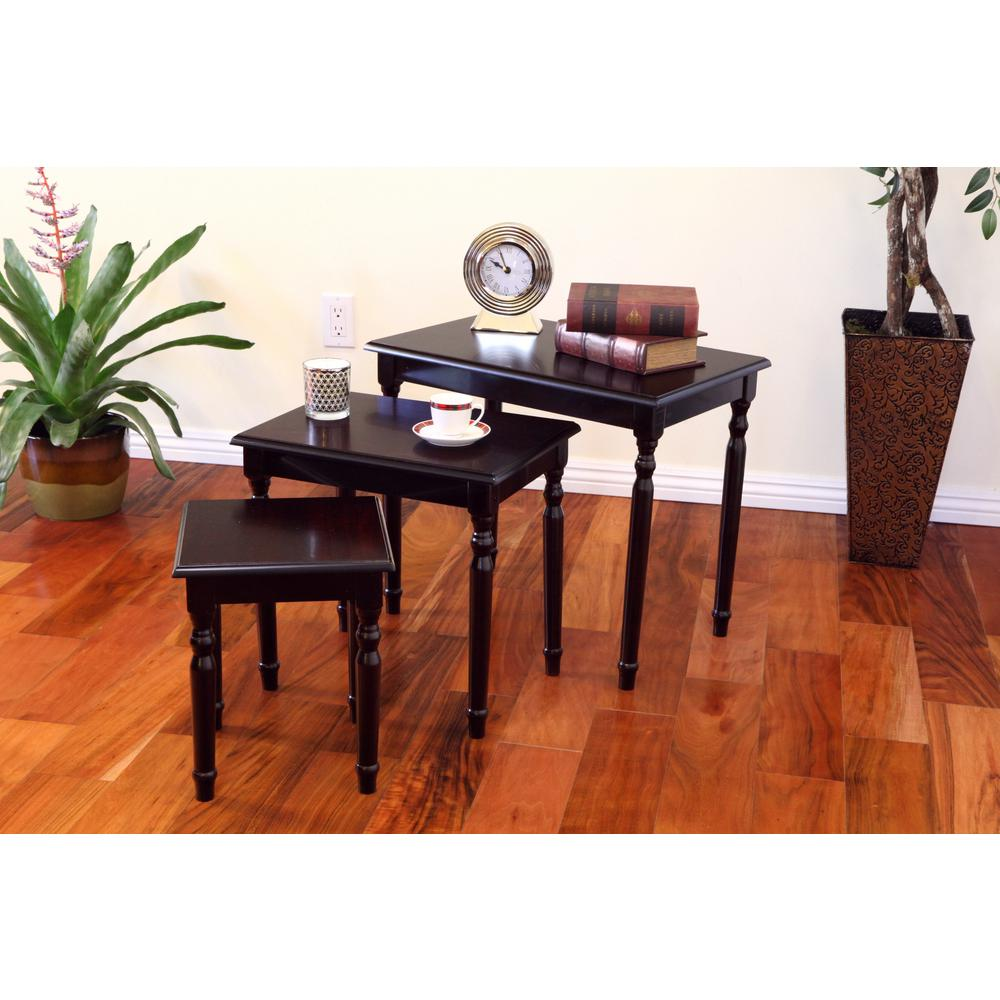 Marvelous Frenchi Home Furnishing Espresso 3 Piece Nesting End Table