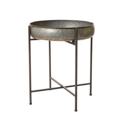 25.79 in. H Farmhouse Metal Industrial Shelf