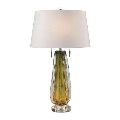Modena 24 in. Green Free Blown Glass Table Lamp