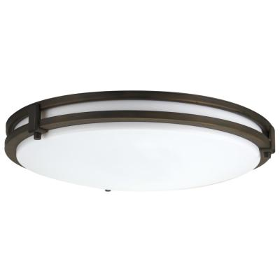 Saturn 2-Light Antique Bronze Flush Mount