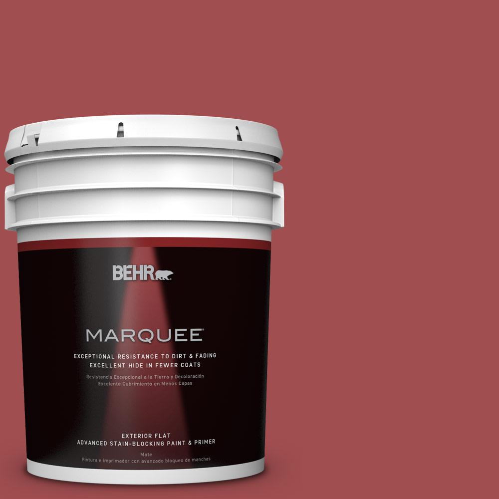 BEHR MARQUEE 5-gal. #M150-7 Sweet Cherry Flat Exterior Paint