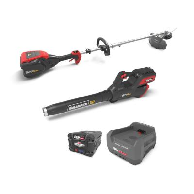 XD 82-Volt MAX Cordless Electric Clean Up Bundle with String Trimmer, Leaf Blower, (1) 2.0 Battery and (1) Rapid Charger