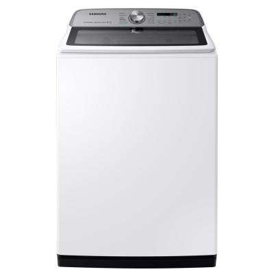5.4 cu. ft. High-Efficiency White Top Load Washing Machine with Super Speed and Steam, ENERGY STAR