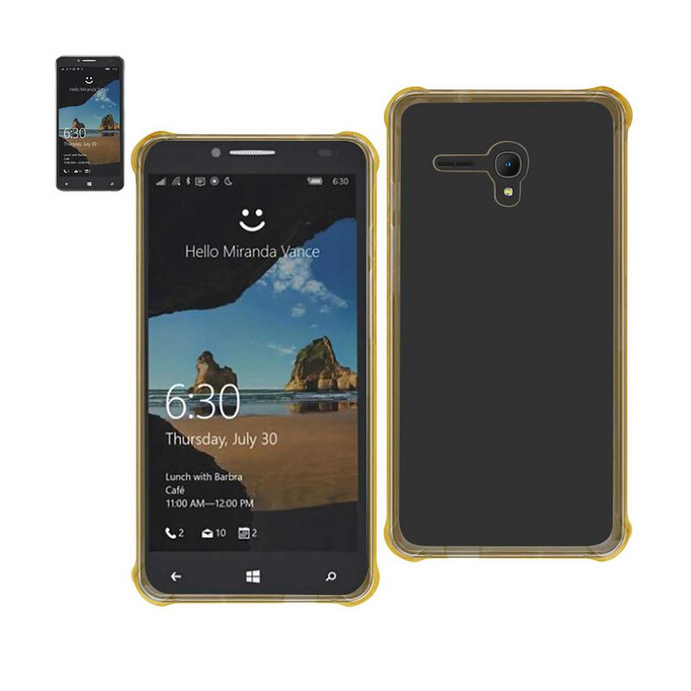 reiko alcatel one touch fierce xl air cushion case in clear gold tpu09 alcfiexlclgd the home depot. Black Bedroom Furniture Sets. Home Design Ideas