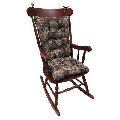 Gripper Jumbo Cabernet Rocking Chair Cushion Set
