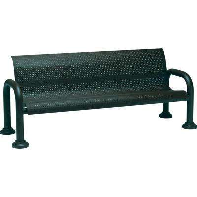 Harbor 6 ft. Contract Perforated Bench with Back in Hunter
