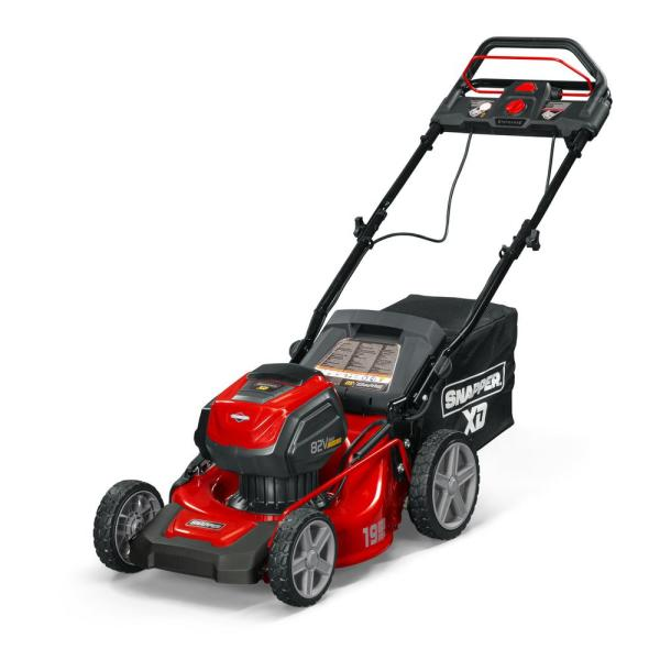 XD 19 in. 82-Volt Lithium-Ion Cordless Battery Step Sense Walk Behind Self Propelled Mower with 2.0 Battery and Charger