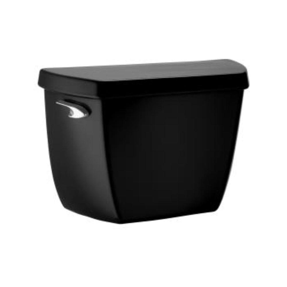 KOHLER Wellworth Classic 1.6 GPF Toilet Tank Only with Locks in Black Black-DISCONTINUED