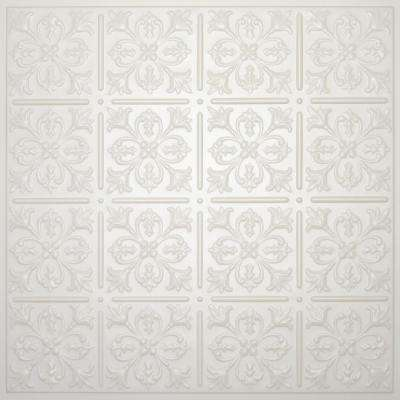 Fleur-de-lis Sand 2 ft. x 2 ft. Lay-in or Glue-up Ceiling Panel (Case of 6)