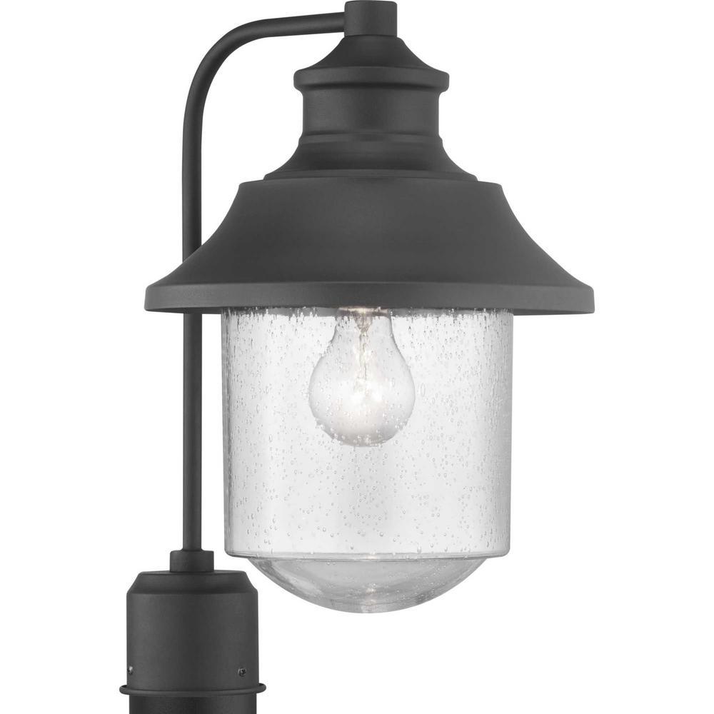 Weldon Collection 1-Light Outdoor Black Post Light