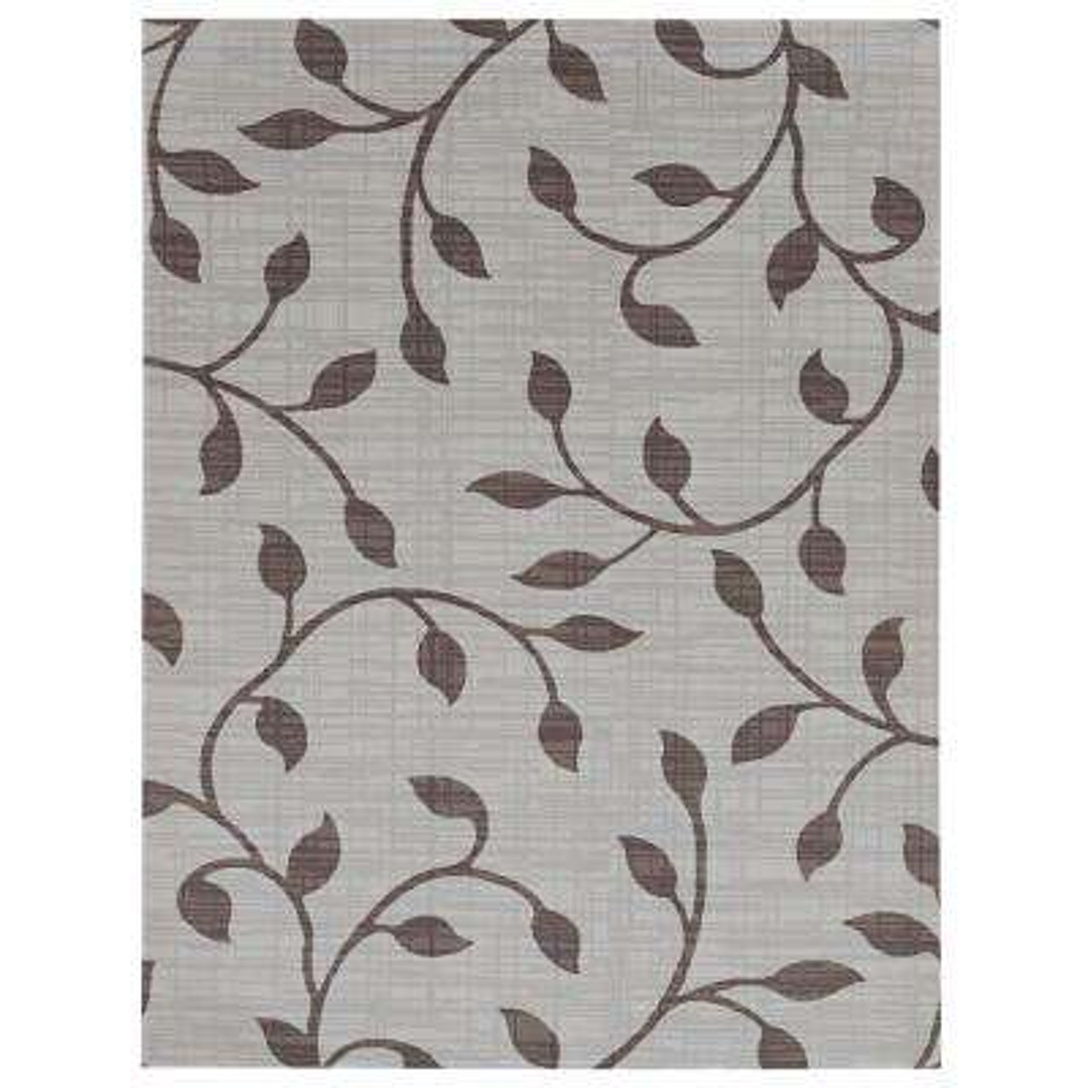 Printed Vine Dark Grey/Light Grey 6 ft. x 8 ft. Indoor/Outdoor Area Rug