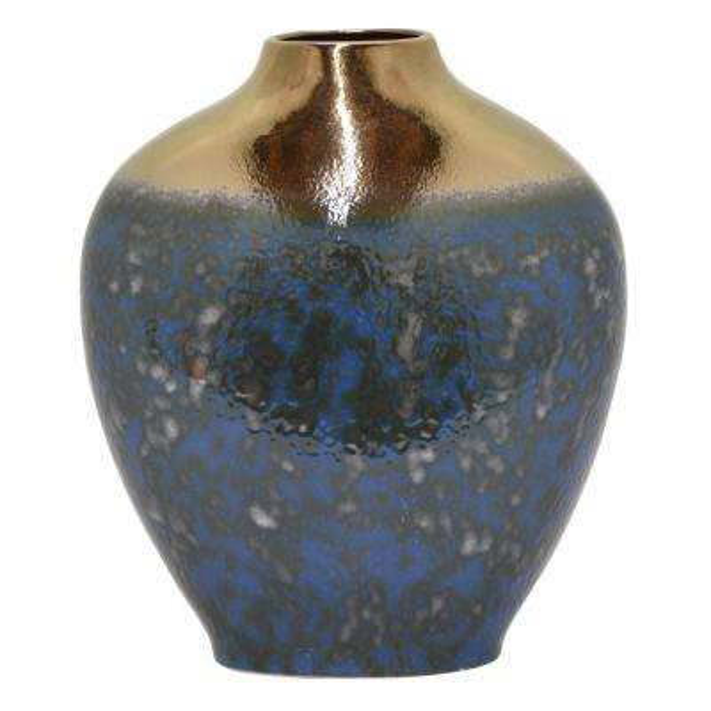 15.75 in. Blue Ceramic Vase