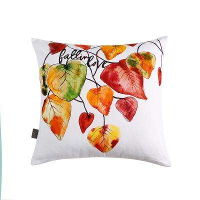 Fall in Love Reversible 20 in. x 20 in. Decorative Pillow