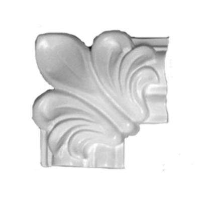1 in. x 3 in. x 3 in. Floral Wooden Panel Moulding