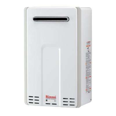 High Efficiency 7.5 GPM Residential 180,000 BTU Natural Gas Exterior Tankless Water Heater