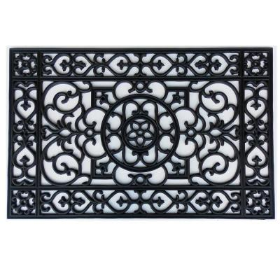 Utopia 24 in. x 36 in. Rubber Door Mat