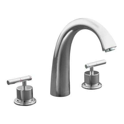 kohler roman tub faucet with hand shower. Taboret 2 Handle Deck Mount Roman Tub Faucet in Polished Chrome KOHLER  Faucets Bathtub The Home Depot