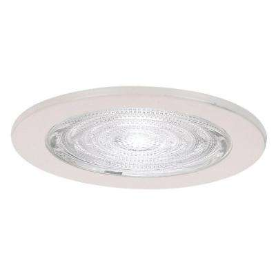 Fresnal Glass 4 in. White Recessed Shower Trim