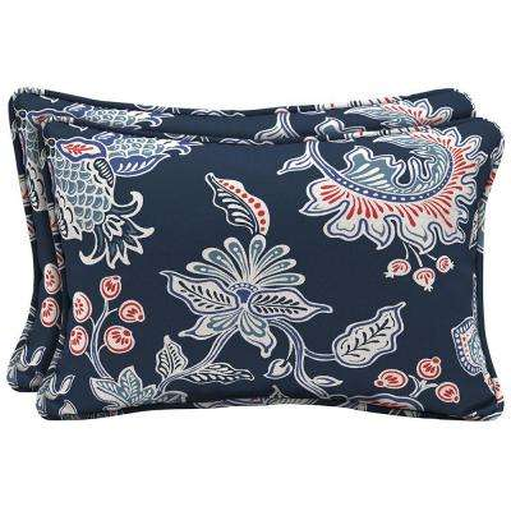 Caroline Lumbar Outdoor Pillow (2-Pack)