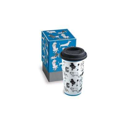 Purr & Wag 12 oz Blue Dog Travel Mug