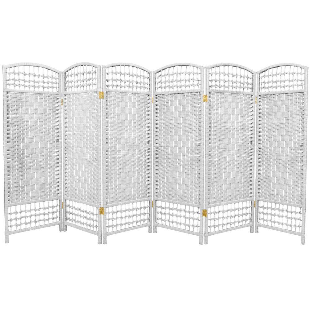 4 ft. White 6-Panel Room Divider