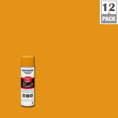 17 oz. M1600 System Precision Line Solvent-Based Caution Yellow Inverted Marking Spray Paint (12-Pack)