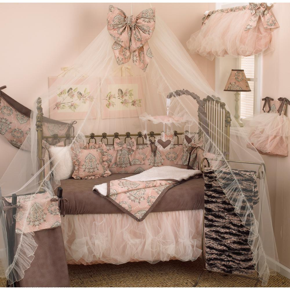 Cotton Tale Nightingale Pink and Brown Dot Cotton Fitted ...