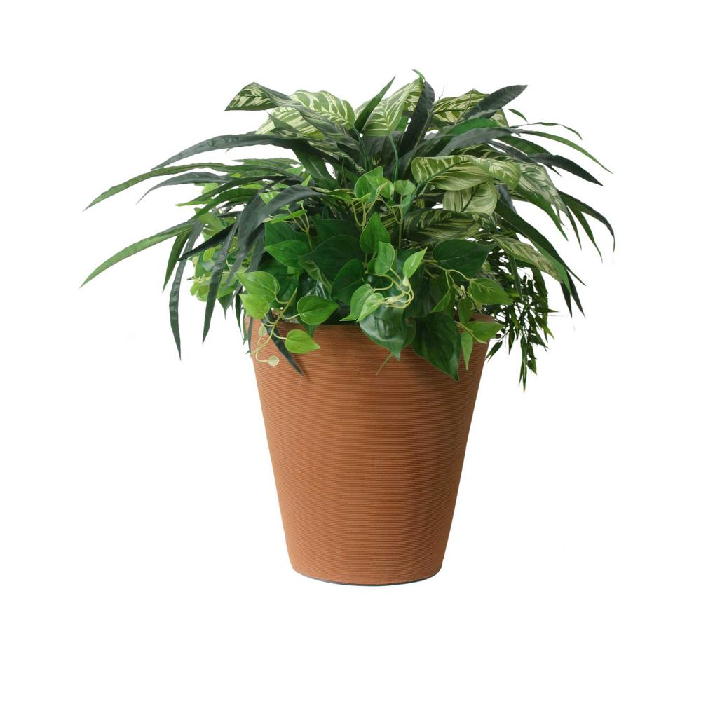 Classico 16 in. D x 14 in. Self-Watering Terra Cotta Plastic